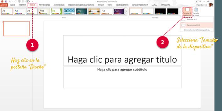 tamaño diapositiva