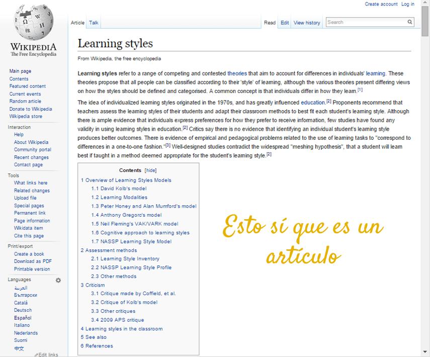 wikipedia inglés