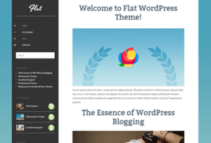 Los mejores themes gratuitos de WordPress: Flat