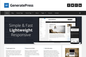 Los mejores themes gratuitos de WordPress: Generate Press