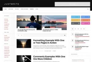 Los mejores themes gratuitos de WordPress: JustWrite