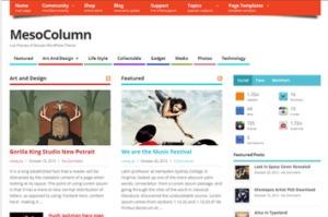 Los mejores themes gratuitos de WordPress: MesoColumn