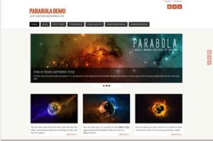 Los mejores themes gratuitos de WordPress: Parabola