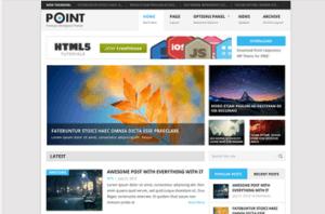 Los mejores themes gratuitos de WordPress: Point