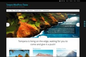 Los mejores themes gratuitos de WordPress: Tempera