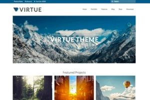 Los mejores themes gratuitos de WordPress: Virtue