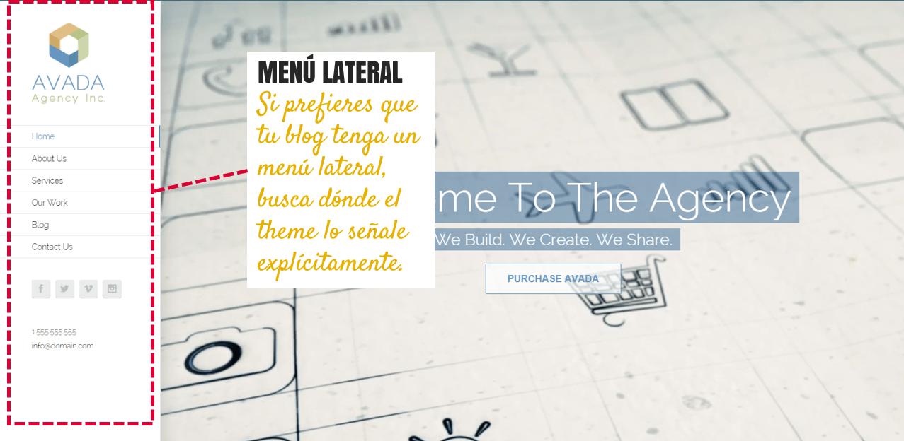 menu lateral